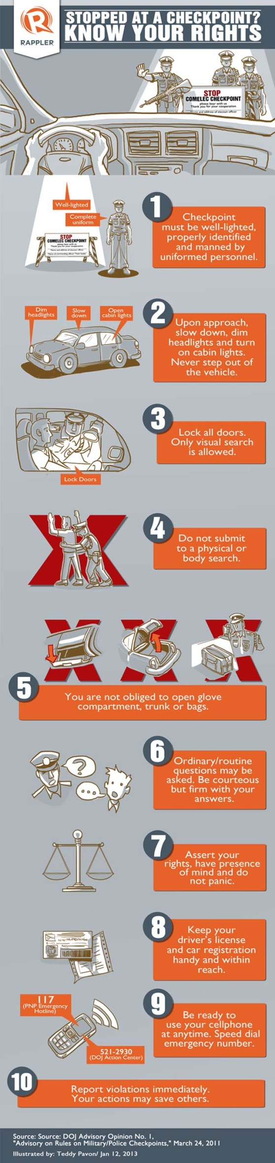 Stopped at a checkpoint? Know your rights