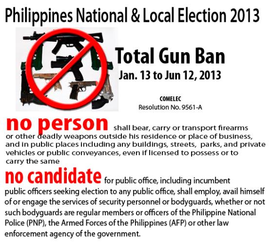 Gun Ban 2013 Election