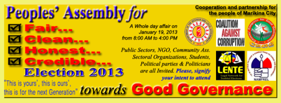 People's Assembly for Fair, Clean, Honest & Credible 2013 Election Towards Good Governance