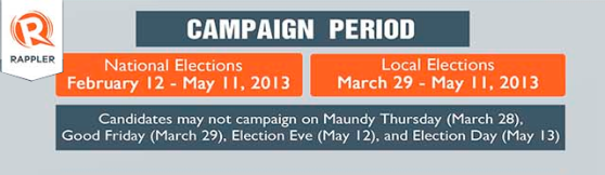 Campaign Period for Election 2013